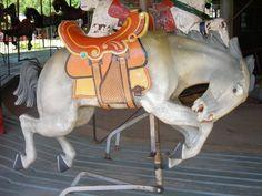 1917 Herschell Spillman Carousel, Circus World Museum, rare bucking bronco