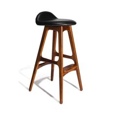 ERIK BUCK - MODERN DANISH STOOL - $ 850.00 These Erik Buch stools are ideal for the home bar or patio. They are made from the finest wood in Denmark, which makes them exceptionally durable and sturdy. They are also comfortable to sit on due to their genuine grain leather upholstery. The Erik Buch stools are perfect for the home. They will last for ever and will never go out of style.