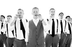 Groomsmen, Cigars and Suspenders + Tie