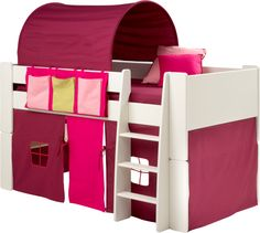 bunk beds steens for kids girls bunk bed kids white mid sleeper bed cabin bed with pink tent tunnel and pocket