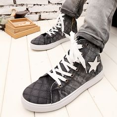 Summer Korean version of Men's Shoes shoes within the higher sub-high shoes casual shoes British Lin curved high-top canvas shoes tide shoes...