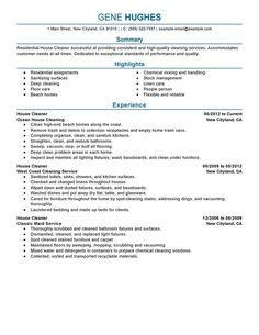 best resume examples for your job search livecareer housekeeping pinterest resume examples and job search - Cleaner Cover Letter