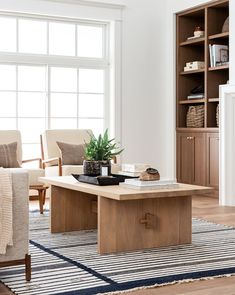 Living Room Decor and Furniture Ideas Ikea, Transitional Living Rooms, Studio Mcgee, Woven Rug, Room Inspiration, Contemporary Design, Rug Size, Living Room Decor, Living Spaces