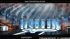 Cryogenics Chamber Concept by Caetis on DeviantArt Game Concept, Concept Art, Games Design, Sci Fi Environment, Spaceship Art, Cyberpunk Character, Alien Art, Futuristic Technology, Star Wars