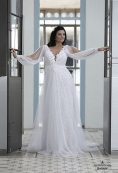 Plus size wedding gown-Blue (1)Beluchy (2)