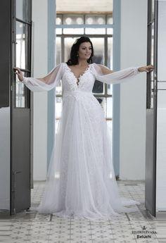 Plus size wedding gown-Blue  (1)Beluchy (2)