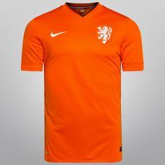 0a51dc100604b Netshoes - Camisa Nike Seleção Holanda Home 2014 s nº - Torcedor Football  Kits