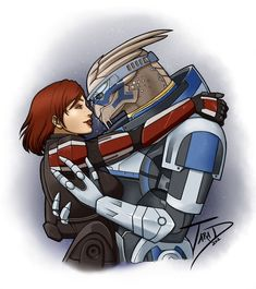 my most favoritest picture on the intarwebs, not least of all because that Femshep looks just like Miranda