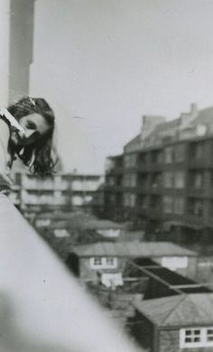 A very rare photo of Anne Frank. Merwedeplein, Amsterdam, May 1941.