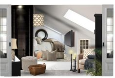 """Small Attic Space Master bedroom"" by tanyaf1 ❤ liked on Polyvore"