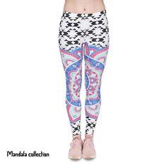 Zohra Women Legging Mandala Aztec Printing Fashion Bottoms Slim High Waist Fitness Leggings Stretch Pants for Womens