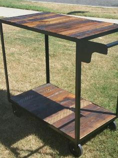Cart  Rolling Bar  Reclaimed Wood by GuiceWoodworks on Etsy