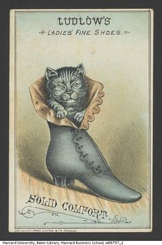 Ludlow's Ladies' Fine Shoes. Solid Comfort.  From Harvard Business School's 19th Century American Trade Card collection.