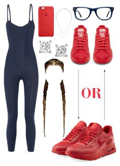 """Adidas OR Nike Air???"" by perichaze ❤ liked on Polyvore featuring Lisa Marie Fernandez, NIKE, Muse, H&M, women's clothing, women, female, woman, misses and juniors"