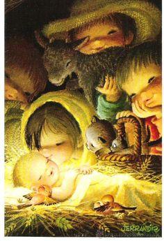 Classic Christmas Music, Old Christmas, Vintage Christmas Cards, Christmas Greeting Cards, Christmas Pictures, Xmas, Italian Christmas, Christmas Greetings Christian, Christian Christmas