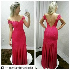 Vestido de festa rosa Camila Milchert Atelier