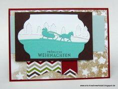 """""""Schlittenfahrt"""" im Winterwald   http://eris-kreativwerkstatt.blogspot.de/2015/11/schlittenfahrt-im-winterwald.html  #stampinup #teamstampingart #weihnachten #xmas #christmas #winter"""