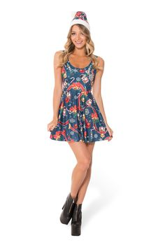 The Nutcracker Scoop Skater Dress (WW 48HR $85AUD / US - LIMITED $80USD) by Black Milk Clothing