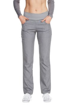 "The ""Cross My Hip"" scrub slack is a stylish pant that blurs the lines between work wear and performance wear. Structured to keep up with your physically demanding if Scrubs Outfit, Scrubs Uniform, Medical Uniforms, Work Uniforms, Stylish Scrubs, Medical Scrubs, Nursing Scrubs, Vet Scrubs, Body Scrubs"