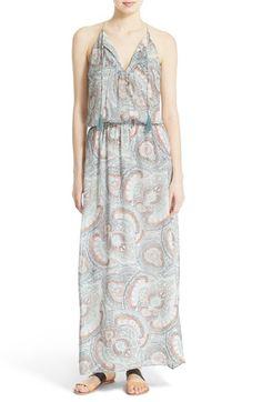 JOIE 'Jossa B' Print Silk Maxi Dress. #joie #cloth #