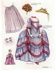 adelette paper doll gown and accessories 1992