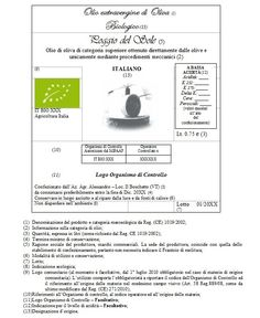 etichetta olio biologico Food Packaging, Graphic Design, Visual Communication