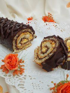 Aleda konyhája: Sütőtök krémes rolád Something Sweet, Bakery, Muffin, Sweets, Breakfast, Cukor, Roll Cakes, Food, Recipes