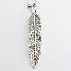 Richard Schmidt Jewelry Design: Feather Pendant, in Sterling Silver #MarthaStewartAmericanMade #Pendant
