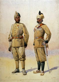Frontier force naik 57th wilde s rifles subedar 53rd sikhs 1908 by