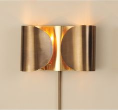 Folded Sconce-Antique Brass/Brass, Holds two candelabra bulbs brass cord cover, clear golDecord, Switch on cord Hangs on two keyholes. Elk Lighting, Unique Lighting, Sconce Lighting, Lighting Design, Bedside Lighting, House Lighting, Contemporary Wall Sconces, Modern Contemporary, Home Interior