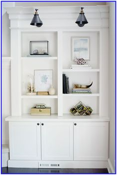 Built In Bookshelf Styling.The Science Of Bookshelf Arrangement 6 Ideas To . Bookcase Style: Take 1 Corner Shelves Living Room . Great Natural Wood Bookcases And Library Lights Built . Home and Family Built In Shelves Living Room, Bedroom Built Ins, Living Room Cabinets, Bookshelves Built In, Living Room Storage, Living Room Bookcase, Modern Bookshelf, Kitchen Living, Bookshelf Styling