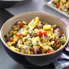 Grilled Corn Salsa Recipe from Taste of Home