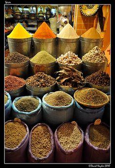 Medina Marrakech Morocco.  Spices by View Factory, via Flickr