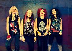 Cherri Bomb, another all-girl metal band  hair & makeup by Lulu Danger http://luludanger.com