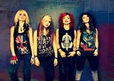 Cherri Bomb, another all-girl metal band hair & makeup by Lulu Danger http://luludanger.com