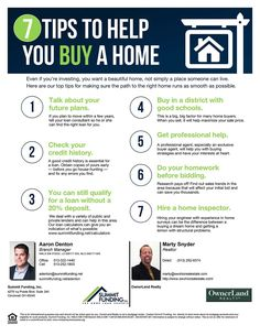 Home Buying Tips, Home Buying Process, Mortgage Loan Officer, Real Estate Buyers, First Time Home Buyers, Investing, Education, Learning, House