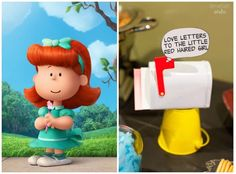 "Peanuts party idea: Make a craft station where kids can write love letters ""to the little red haired girl"" 