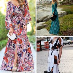Don't pack away your #MaxiDress. It's about to be your fall transition piece.
