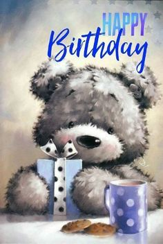 Birth Day QUOTATION – Image : Quotes about Birthday – Description happy birthday / joyeux anniversaire / teddy bear / ourson / bleu / cadeau Sharing is Caring – Hey can you Share this Quote ! Cute Birthday Messages, Cute Birthday Wishes, Birthday Message For Friend, Birthday Wishes Greetings, Best Birthday Quotes, Happy Birthday Pictures, Happy Birthday Cards, Birthday Fun, Happy Birthday Bear