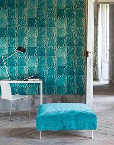 Designers Guild Aquarelle wallpaper. Love this colour