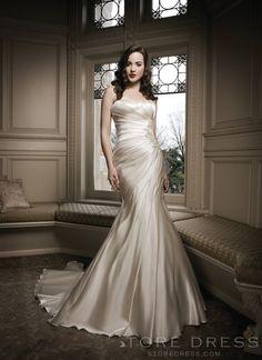 Glamorous Trumpet / Mermaid Chapel Beading Wedding Dress 2014 at Storedress.com