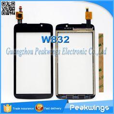 Für philips xenium w832 touchscreen mit digitizer panel sensor glas mit logo