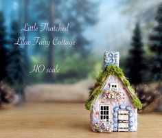 Thatched Country Fairy Cottage  Miniature by bewilderandpine
