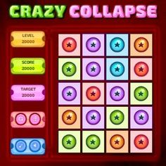 #Crazy #Collapse is a block removing #board #game. Collapse the blocks by clicking the group of #horizontally or #vertically connected same type blocks.