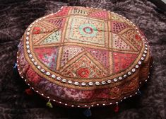 awesome large seat cushion, patchwork sitting bag, bohemian living, 2 sizes, colourful seat pad
