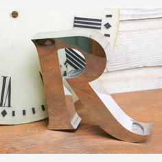 Stainless Steel Letter R  by Unknown