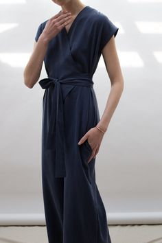 wraparound jumpsuit via Lauren Winter.