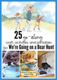 25 Activities, Crafts, and Printables for We're Going on a Bear Hunt by Michael Rosen - from HomeschoolCreations.net