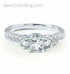 HELZBERG RADIANT STAR® 1 CT. TW. DIAMOND ENGAGEMENT RING IN 14K GOLD IGI GRADED
