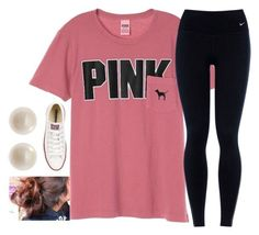 OOTD by carolinaprep137 on Polyvore featuring NIKE, Converse and Links of London